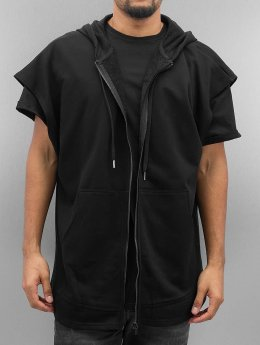 Sixth June Zip Hoodie Oversized Sleeveless czarny