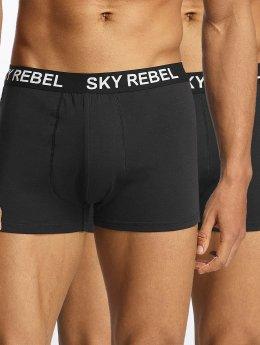 Sky Rebel Bokserit Double Pack Logo musta