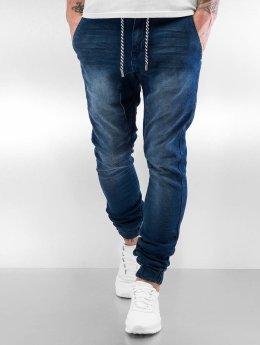 Sky Rebel joggingbroek Jeans Style blauw