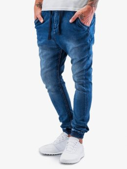 Sky Rebel Joggingbyxor Sweat Denim Optics blå