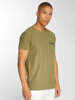 Sky Rebel t-shirt Jannis olijfgroen