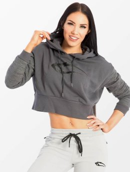 Smilodox Hoody Flawless Cropped grau