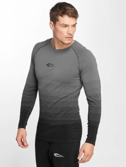 Smilodox T-Shirt manches longues Definition Seamless gris