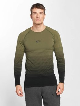 Smilodox T-Shirt manches longues Definition Seamless olive