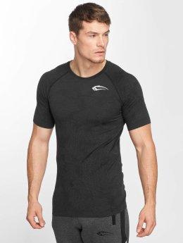 Smilodox T-Shirty Camo Pattern Seamless szary