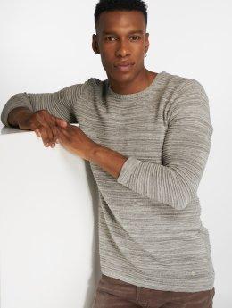 Solid Пуловер Struan серый
