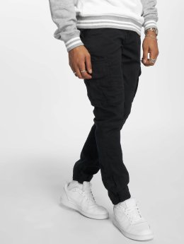 Solid Cargo pants Galo black