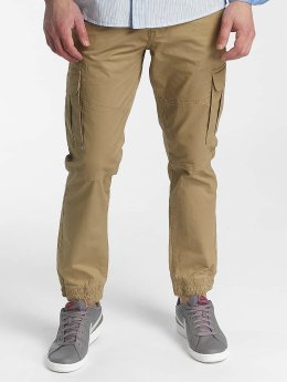 Solid Chino bukser Galo Strech Cargo brun