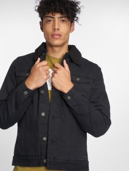Solid Denim Jacket Rico black