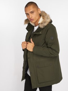 Solid Manteau Steel olive