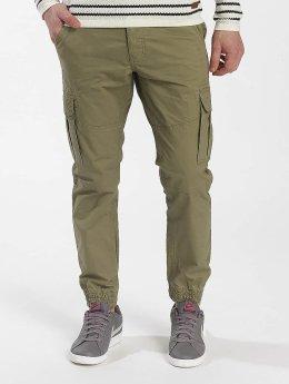 Solid Pantalon cargo Galo Strech vert