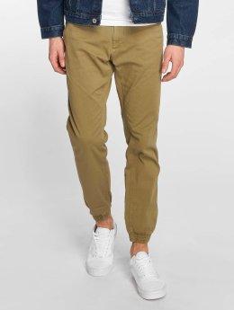 Solid Pantalon chino Jasper Cuff olive