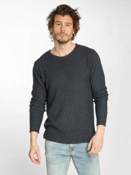 Solid Pullover Navid Knit blau