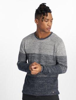 Solid Pullover Stephan blau
