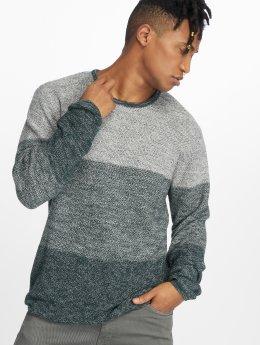 Solid Pullover Stephan grün