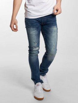 Solid Slim Fit Jeans Joy Stretch синий