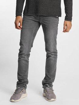 Solid Slim Fit Jeans Joy grijs