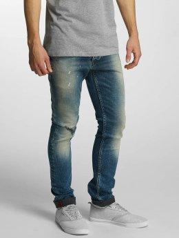 Solid Straight Fit Jeans Slim blau