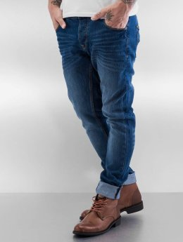 Solid Straight fit jeans Joy Stretch blauw
