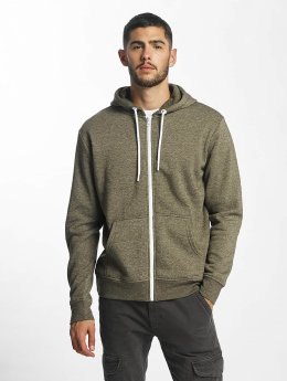 Solid Sweat capuche zippé Deacon olive