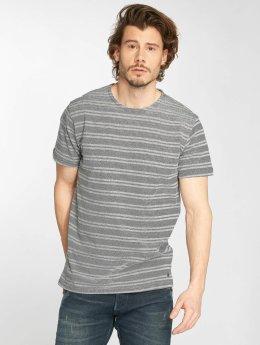 Solid T-shirt Neil blå