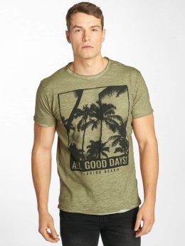 Solid T-Shirt November green