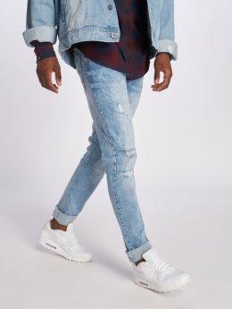 Southpole Облегающие джинсы Flex Ripped синий