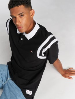 Southpole Camiseta polo Cut & Seen negro