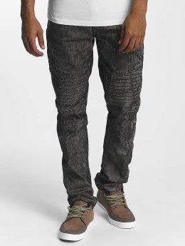 Southpole Jean coupe droite Colored Acid noir