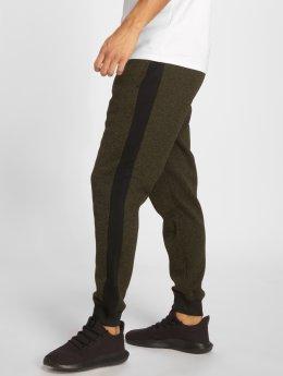 Southpole Jogging kalhoty Side Panel Marled Fleece olivový