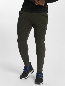 Southpole joggingbroek Camo Block Fleece olijfgroen