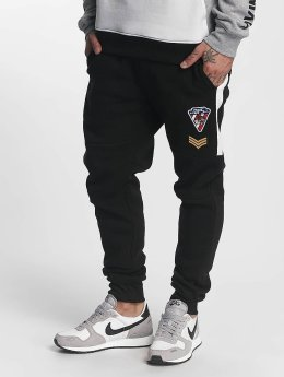 Southpole joggingbroek Patch zwart