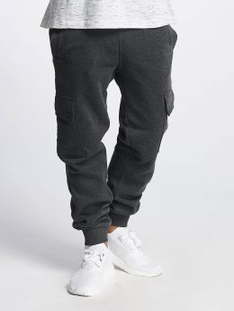 Southpole Jogginghose Basic Fleece Cargo grau