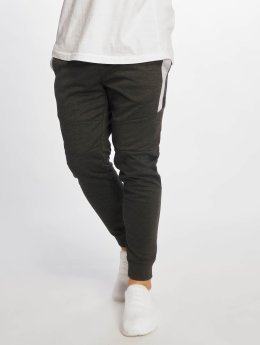 Southpole Jogginghose Color Block Tech Fleece grau