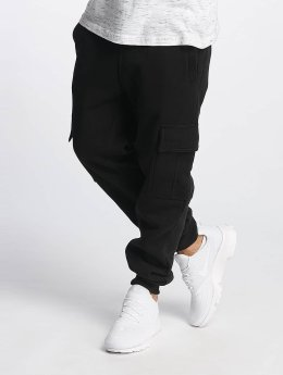 Southpole Jogginghose Basic Fleece Cargo schwarz