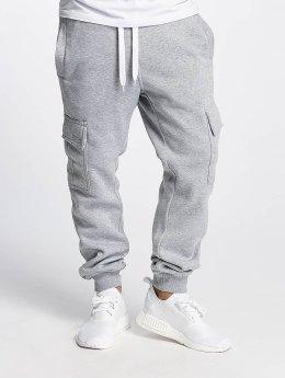 Southpole Pantalone ginnico Basic Fleece Cargo grigio