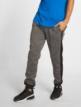 Southpole Spodnie do joggingu Side Panel Marled Fleece czarny