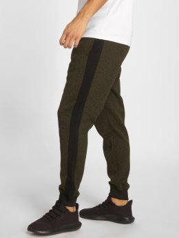Southpole Spodnie do joggingu Side Panel Marled Fleece oliwkowy