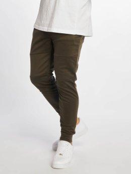 Southpole Spodnie do joggingu Basic Tech Fleece oliwkowy