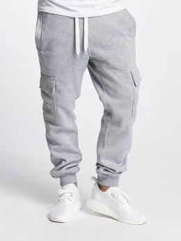Southpole Spodnie do joggingu Basic Fleece Cargo szary