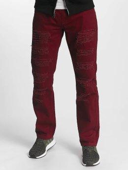 Southpole Straight Fit Jeans Tuscon Slim červený