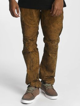 Southpole Straight Fit Jeans Colored Acid braun