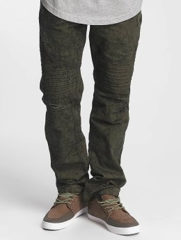 Southpole Straight Fit Jeans Colored Acid olive