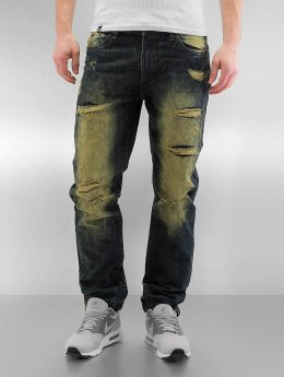 Southpole Straight Fit Jeans Ripped Slim olivový