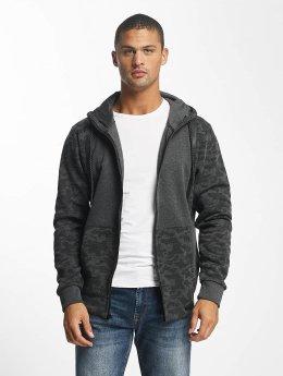 Southpole Sweat capuche zippé Camo Block gris
