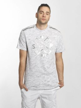 Southpole T-Shirt Marbled blanc