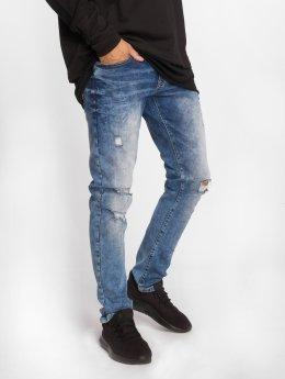 Southpole Tynne bukser Flex Ripped blå