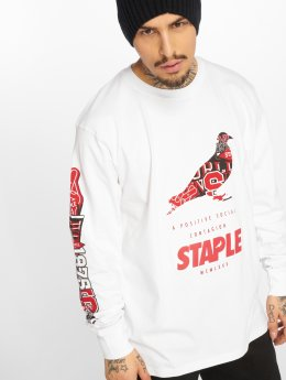 Staple Pigeon T-Shirt manches longues Positive Social Contagion blanc