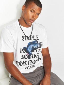 Staple Pigeon T-skjorter Gothic hvit