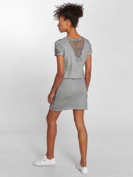 Stitch & Soul jurk Midi grijs